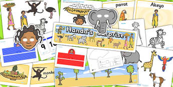 Childminder Handa's Surprise Resource Pack - child minder, books