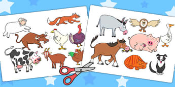 Stick Puppets to Support Teaching on Farmyard Hullabaloo - farm, puppet, role play