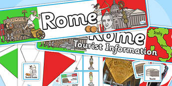 Rome Tourist Information Office Role Play Pack-rome, tourist information, tourist, role play, role play pack, rome pack, tourist, activities
