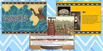 Benin Culture Information PowerPoint - KS2, discussion prompt