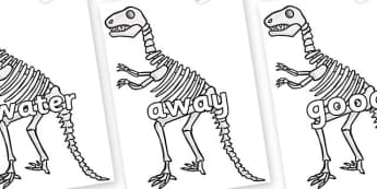 Next 200 Common Words on Dinosaur Skeletons - Next 200 Common Words on  - DfES Letters and Sounds, Letters and Sounds, Letters and sounds words, Common words, 200 common words
