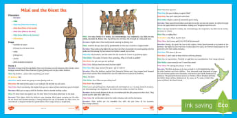 Māui and the Giant Ika Play Script