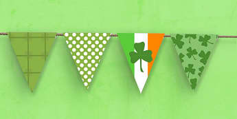 St Patricks Day Themed Bunting - st patricks day, bunting