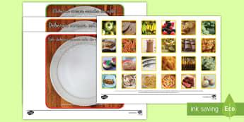 Tarjetas de clasificar con fotos: La comida saludable - comida saludable, comer, comida, comer sano, sano, sana, dieta, dieta variada, variada, plato, almue