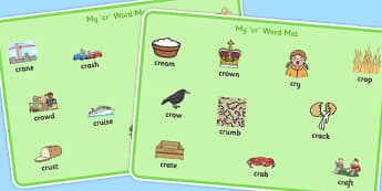 CR Word Mats - sen, sound, special educational needs, cr, word mats
