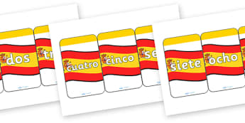 Spanish Number 0-20 Flash Cards - spanish, spanish number cards, spanish number aids, spanish numbers 0-20 on cards, spanish number flashcards, languages