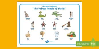 Yolngu Aboriginal Language Word Mat - Australian Curriculum, HASS, The Ways In Which Aboriginal And Torres Strait Islander Peoples Maintai