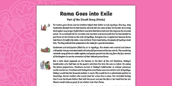 Rama Goes into Exile Story