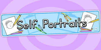 Self Portraits Display Banner - self portrait, ourselves, my body