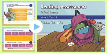 Year 5 Reading Assessment Fiction Term 1 Guided Lesson PowerPoint - Year 3, Year 4 & Year 5 Reading Assessment Guided Lesson PowerPoints, KS2, reading, read, assessment