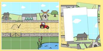 Farm Bee Bot Mat - farm, bee bot, mat, beebot, bee-bot, on the farm
