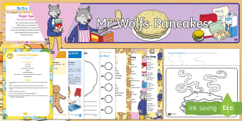 Childminder EYFS Resource Pack to Support Teaching on Mr Wolf's Pancakes - Mr Wolf's Pancakes, pancake day, Jan Fearnley, child minder, childminding,