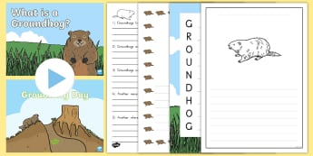 Groundhog Day Writing Resource Pack - Groundhog Day, USA, 2nd February, 2/2/17, 2nd Feb, repeat, sun, weather.