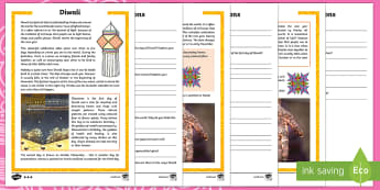 Diwali Differentiated Reading Comprehension Activity