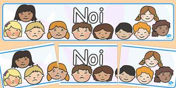 Cine Suntem Noi, Banner - decor grupă, preșcolari, cine sunt eu, Romanian