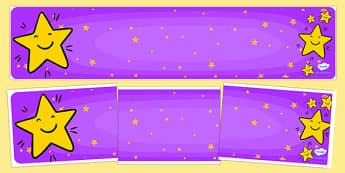 Editable Banner Smiley Star - editable, editable banner, smiley star, display, banner, display banner, display header, themed banner, editable header, header