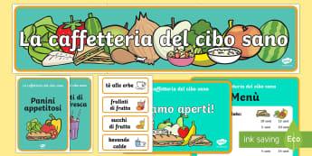La Caffetteria del Cibo Sano Pacco Completo Gioco di Ruolo - la, caffetteria, del, cibo, sano, gioco, di, ruolo, italiano, italian, alimentazione, cibo, salutare
