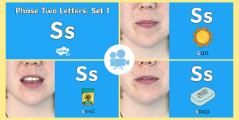 Phase Two Phonemes: Set One: 's' Video - phonics, satp, sounds, satpin