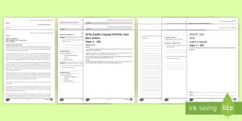 003 Eng Lang EDEXCEL Style P2 Exam Questions Pack - English language GCSE Exam Papers, Edexcel, Paper 2, non-fiction texts, transactional writing.