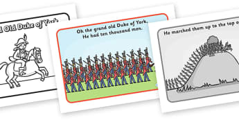 The Grand Old Duke of York Sequencing - The Grand Old Duke of York, sequencing, nursery rhyme, rhyme, rhyming, nursery rhyme story, nursery rhymes, position, positional language, The Grand Old Duke of York resources