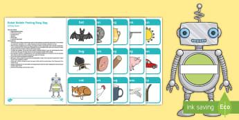 Robot Robbie Posting Busy Bag Resource Pack for Parents - EYFS, Phase 1, Aspect 6, Voice Sounds, letters and sounds, phonics, speaking, speech