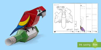 The Parrot Paper Craft to Support Teaching on Matilda - New Zealand Chapter Chat, Chapter Chat NZ, Chapter Chat, Year 3&4, Matilda, Roald Dahl, Novel Study,