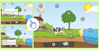 Carbon Cycle Picture Hotspot - KS3/4 Picture Hotspots, carbon cycle, respiration, photosynthesis.