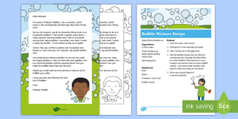 Editable Professor Bubble Letter and Resource Pack - EYFS, Early Years, KS1, Key Stage 1, Summer, sun, wind, weather, Science, Understanding the World, e