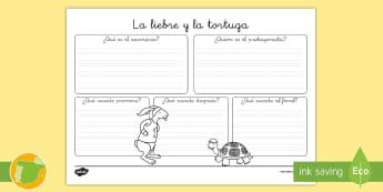 Reseña de libro: La liebre y la tortuga - cuento, infantil, moraleja, liebre, tortuga, fábula, fabula, animales,Spanish