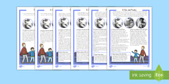 Father's Day Differentiated Reading Comprehension Activity US English/Spanish (Latin) - Father's Day, reading, celebrations, events, non-fiction, comprehension, questions, fact file, inf
