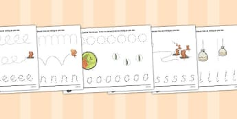 The Tale of Squirrel Nutkin Pencil Control Sheets - squirrel nutkin, pencil control