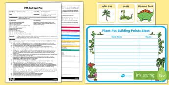 EYFS Plant Pot Building Site Adult Input Plan and Resource Pack