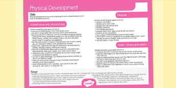 Welsh Curriculum Foundation Phase Physical Development Overview