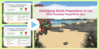 Creating a Subordinate Clause to Add Interest Grammar PowerPoint