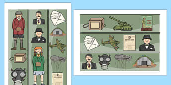 World War Two Display Border - display border, world war two, classroom border, border, WW2, Hitler, world war, Nazis, Germany