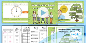 PlanIt Spelling Year 4 Term 2B W4: Word Families Based on Common Words Spelling Pack - Spellings Year 4, Y4, spelling, SPaG, GPS, words, lists, family, families, common words, pack, weekl