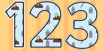 Edward Jenner Themed Display Numbers - edward jenner, display numbers, themed number, classroom number, numbers for display, numbers, numbers display
