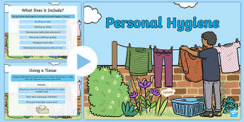 CfE First Level Personal Hygiene PowerPoint - Health, Wellbeing,hygiene, bathing, healthy, washing, brushing teeth