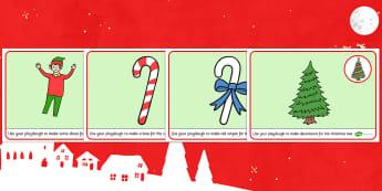 Elf Themed Playdough Mats - playdough mats, mats, elf, activity