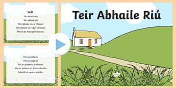 Teir Abhaile Riú Song PowerPoint