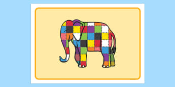 Playdough Mat to Support Teaching on Elmer - Elmer, Elmer the elephant, resources, mat, activity, playdough, Elmer story, patchwork elephant, PSHE, PSE, David McKee, story, story book, story book resources, story sequencing, story resources