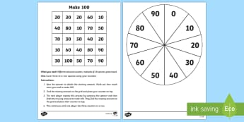 Making 100 Game - Mental Maths Warm Up + Revision - Northern Ireland, making 100, one hundred, multiple of ten, games,