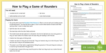 How to Play Rounders Adult Guidance - PE, Physical Education, Key Stage 1, KS1, Year 1, Y1, Year 2, Y2, Team Game, Sport, Exercise, Throwi