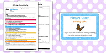 EYFS Butterfly Gems Finger Gym Activity Plan and Prompt Card Pack