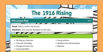 1916 Rising Lesson Plan and Ideas - Easter 1916 Rising, irish history, teacher ideas