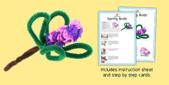Springtime Buds Craft Instructions - spring, buds, craft, instruction