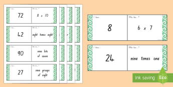6, 7, 8 and 9 Times Tables Loop Cards - multiplication, times tables, 6, 7, 8, 9, loopy
