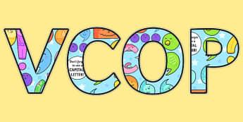 VCOP Display Lettering - VCOP, Display, Lettering, Grammar