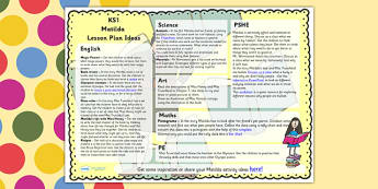 Lesson Plan Ideas KS1 to Support Teaching on Matilda - matilda, lesson plan, KS1, ideas