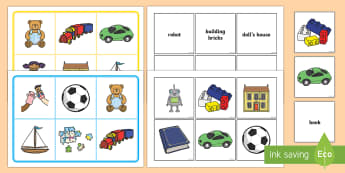 Toys Matching Cards and Boards - EYFS, Early Years, KS1, Toys, teddy bear, visual recognition, matching game